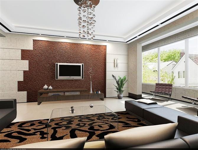 2,欧式风格欧式风格的电视背景墙造型一般是对电视墙基本框架做一个
