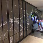 幕墙冲孔氟碳铝单板_餐厅室内幕墙造型铝单板