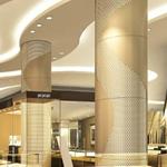 金属弧形包柱铝单板-圆柱镂空雕花铝单板