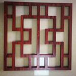 木纹中式隔断方管焊接铝合金格栅