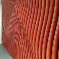 型材拉弯-超市弯顶装饰弧形铝方通-S造型铝格栅