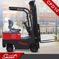 深圳新品包邮CPD10蓄电池电动叉车,载重1吨升高3米四轮座驾式