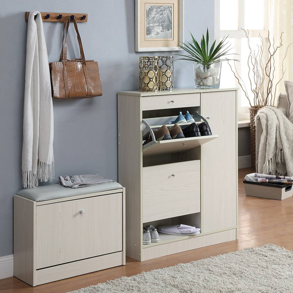 入户门口窄鞋柜图片 门口入户处了鞋柜还可以放什么家具