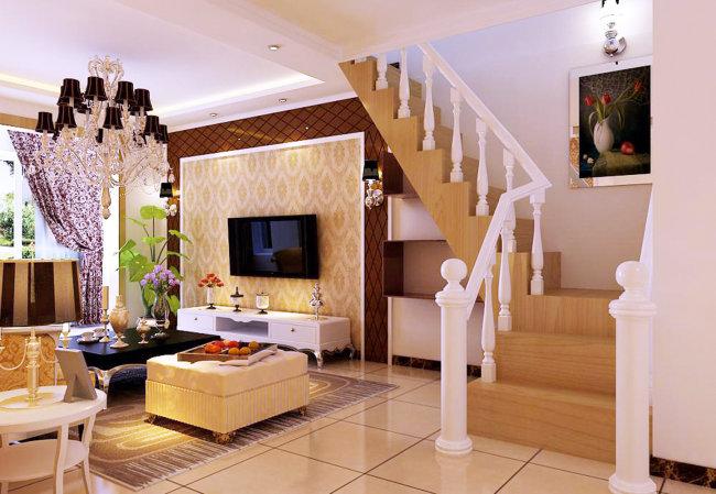 带楼梯的客厅效果图 客厅与楼梯的隔断怎么设计效果图