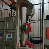 佛山喷砂机设备优质生产厂家铁件挂具油漆处理打沙机吊钩式抛丸机