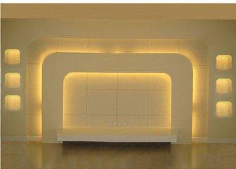 电视墙用木材制作怎么样  木工做电视墙造型图片