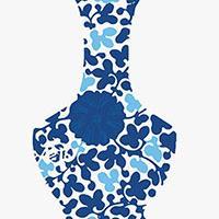 时间出品-硅藻艺术挂画 青花瓶系列