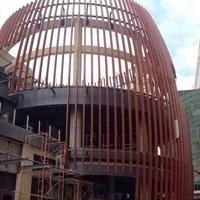 行政办公楼改造铝方管-50*100四方管【热转木纹印】