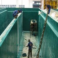 环氧玻璃鳞片防腐涂料污水池玻璃钢施工多少钱