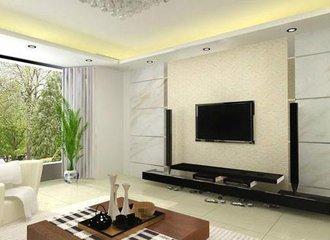 艺术漆电视背景墙效果图  你家也装起来吧
