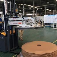 汽车空调散热器行业500kg铝卷翅片机卷膜上料吸盘车