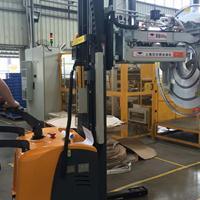 汉尔得HT300铝卷搬运车、翅片机卷膜上料吸盘车、汽车散热器行业