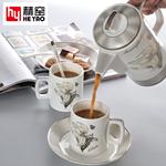 厂家直销欧式骨瓷咖啡具套装陶瓷下午茶具礼品定制logo