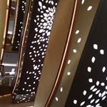 电梯包边透光铝单板-镂空铝板吊顶