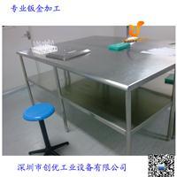 不锈钢工作台,201不锈钢检验台带灯,移动式不锈钢桌子订做