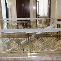 10厘铝板雕刻欧美风时尚阳台护栏K金镜面色