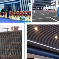 广汽新能源展厅外立面圆孔渐变铝单板【碳灰色铝格栅】指定供应商