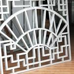 仿古鋁合金花格窗-木紋鋁花格定制