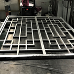 方管焊接铝花格-仿古铝合金花格-仿古木纹铝花格生产