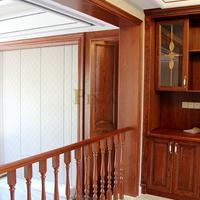 品家楼梯 上海整木家装工厂定制 别墅橡木围栏款式 美式风格楼梯