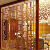 萍乡茶庄铝合金屏风 铝窗花屏风 雕刻铝屏风隔断