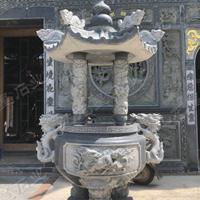 寺院的石材香炉 石雕香炉