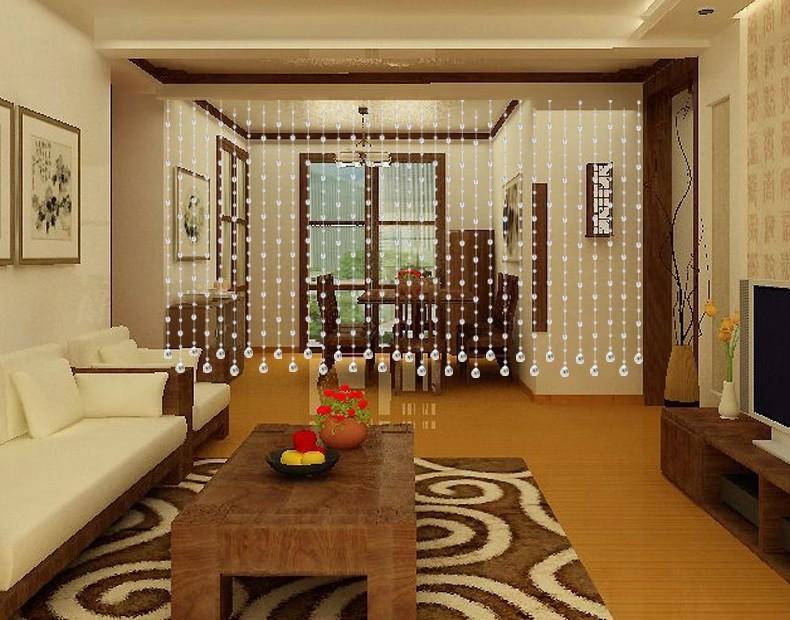 客厅装饰小挂珠帘 家里哪里应该挂珠帘