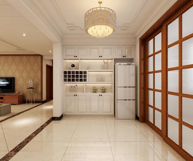 橱柜冰箱一体效果图 选购橱柜有什么要注意点么?