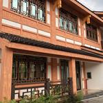 中式仿古木纹造型铝花格栅定做厂家