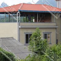 树枝瓦片 屋顶加厚塑料琉璃瓦新农村盖房子材料塑胶树脂瓦厂家图片