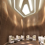 商场墙体立面造型木纹铝方通-吊顶波浪形铝方通厂家直销