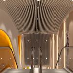定制铝方通吊顶天花-弧形铝方通定制加工-弧形造型铝方通