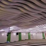 厂家供应走廊走到波浪铝方通 仿翻云覆海造型方通定制