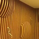 造型弧形木纹铝单板方通吊顶-水曲纹铝方通定制