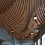 弧形铝方通-弧形波纹铝方通-弧形木色铝板铝方通