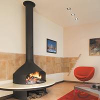 joorge/乔治RG1202悬挂式定制壁炉 现代燃木火炉实木取暖别墅壁炉