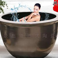 极乐汤泡澡缸温泉洗浴中心冲洗澡缸日式定制1.2米陶瓷洗浴大缸