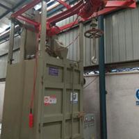 自动喷砂机有限公司三水喷沙机电镀挂具油漆处理吊钩式抛丸机厂家
