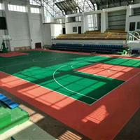 建科体育长春拼装篮球场悬浮地板施工长春幼儿园悬浮拼装地板施工