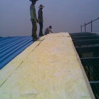 河北龙飒龙飒厂家直销 100mm/26kg玻璃棉卷毡龙飒防水铝箔玻璃棉