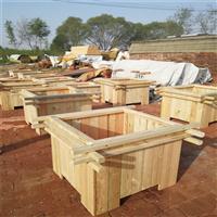 唐山景观花箱――河北防腐木花箱厂家|绿化种植木质花盆