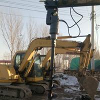 铲车式改装螺旋钻机 电力挖坑专用螺旋打桩机