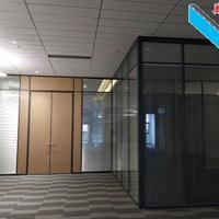 深圳工厂铝合金成品隔断-玻璃内置百叶隔间
