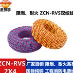 金环宇电线电缆 ZCN-RVS 2*4平方 2芯双绞电源线 阻燃耐火消防线