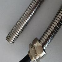 佛山供应喷码机线束保护套管 可弯曲双勾不锈钢软管20mm