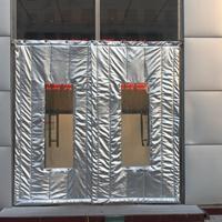 天津生產出售皮革大視窗雙層加厚爆款棉門簾