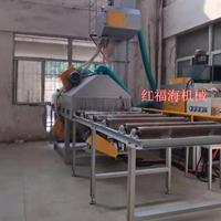 辊道式喷砂机大型通过式抛丸机不锈钢铝型材涂层处理打沙机视频