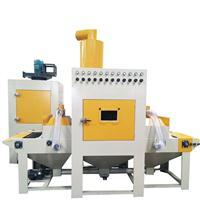 广东木门板处理喷砂机木板披锋处理磨沙机异形门板处理喷砂设备