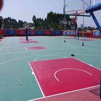 籃球場塑膠墊 塑膠籃球場顏色