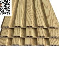 三亚厂家直销学校餐厅墙裙装饰用环保板材 生态木小长城板